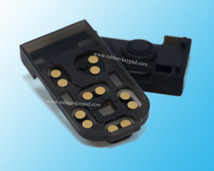 Silicone Keypads with Gold Pill