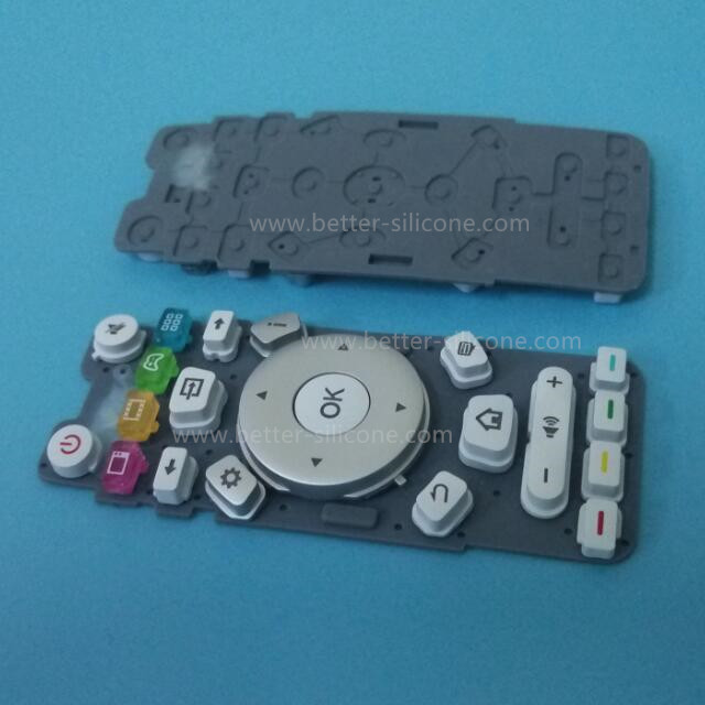 Plastic Rubber Keyboard with Key Cover Cap