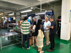 Israel Customer Visit for Silicone Keyboard and Rubber Bushing