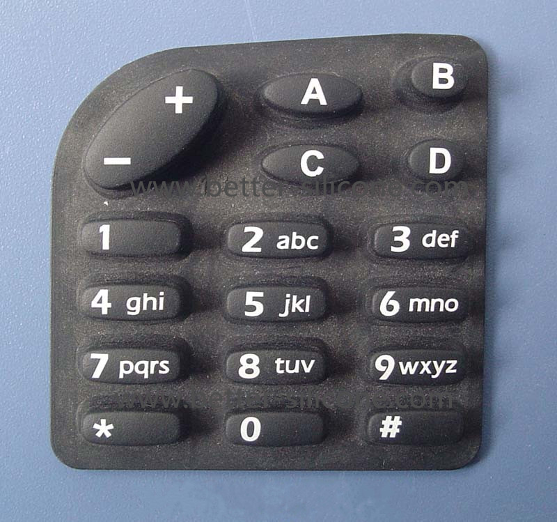 Translucent Silicon Backlight Keypad