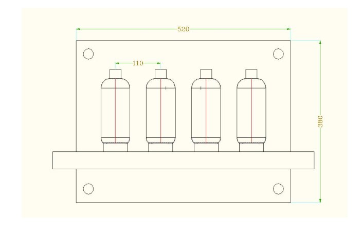 silicone rubber bottle sleeve Mold layout