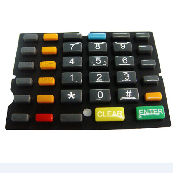 Different Shore A Hardness Silicone Rubber Keyboard Keypad
