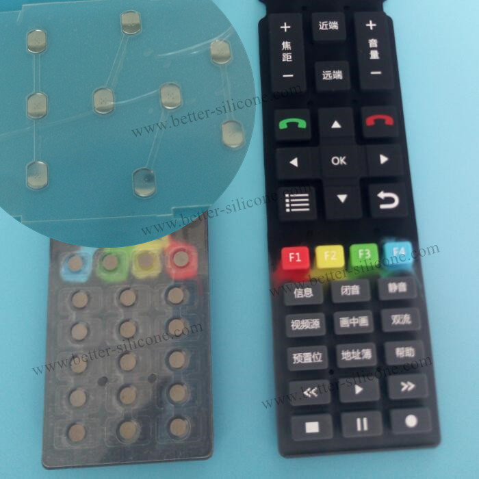 Custom Silicone Rubber Buttons for Remote Controller