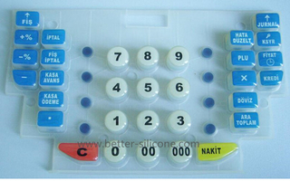 Elastomeric Silicone Rubber Epoxy Coating Keypad