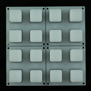 Translucent Silicone Rubber Button Pad 4x4 Keyboard
