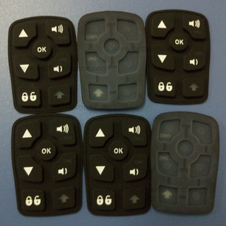 Custom Made Elastomer Rubber Silicone Laser Etching Keypad