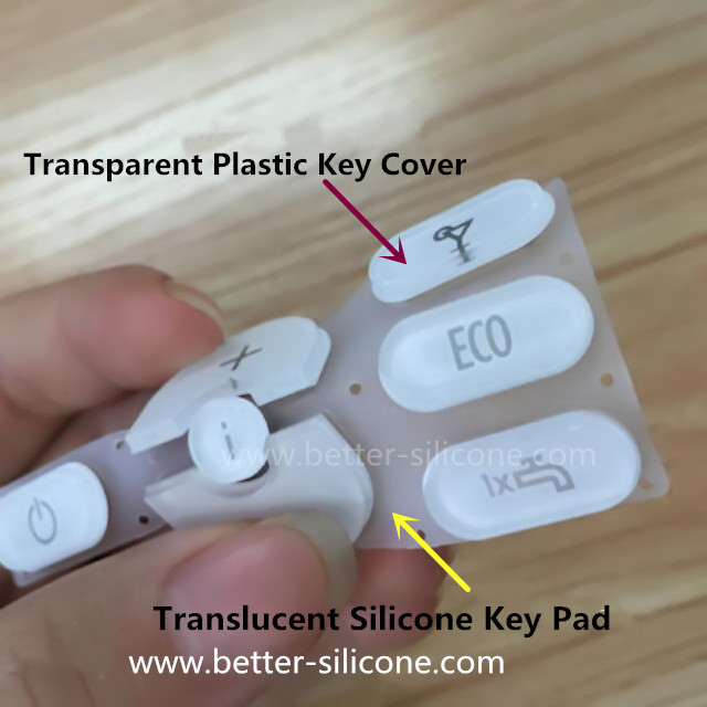Silicone Rubber Keypad with Plastic Key Cover