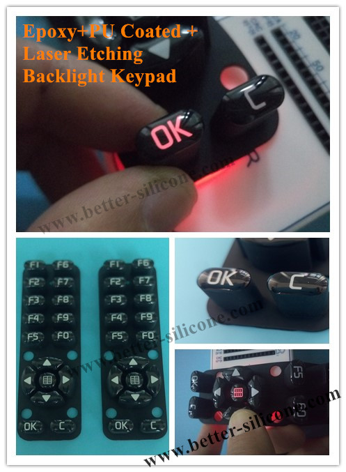 Backlight Silicone Rubber Keypad